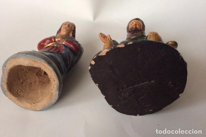 Figuras de Belén: ANTIGUO CONJUNTO DE REYES MAGOS - PAJES - VIRGÉN MARIA Y OTRA EN BARRO - SERRANO - - Foto 12 - 140729850
