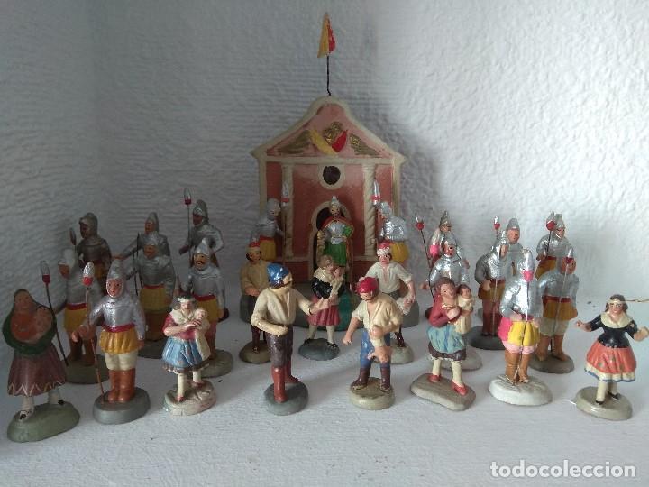 FIGURA BELEN PESEBRE NACIMIENTO BARRO TERRACOTA MUY ANTIGUOS CACHACHERRIA MURCIANA (Coleccionismo - Figuras de Belén)