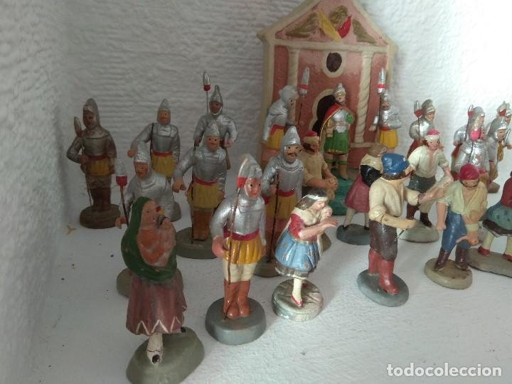 Figuras de Belén: FIGURA BELEN PESEBRE NACIMIENTO BARRO TERRACOTA MUY ANTIGUOS CACHACHERRIA MURCIANA - Foto 12 - 140841918