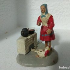 Figuras de Belén: FIGURA BELEN PESEBRE NACIMIENTO BARRO TERRACOTA MUY ANTIGUOS CACHACHERRIA MURCIANA. Lote 140878706