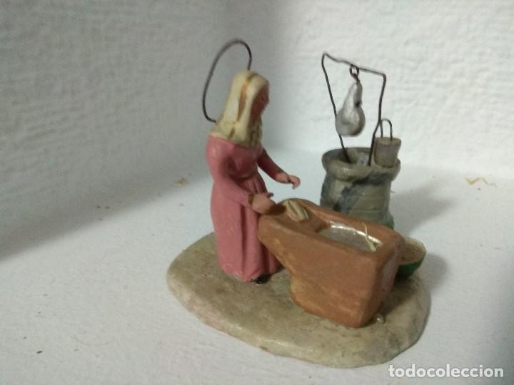 Figuras de Belén: FIGURA BELEN PESEBRE NACIMIENTO BARRO TERRACOTA MUY ANTIGUOS CACHACHERRIA MURCIANA - Foto 2 - 140880906