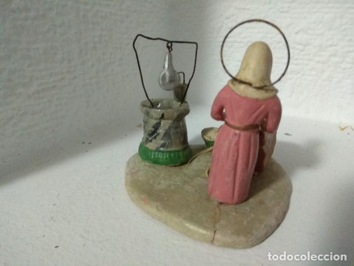 Figuras de Belén: FIGURA BELEN PESEBRE NACIMIENTO BARRO TERRACOTA MUY ANTIGUOS CACHACHERRIA MURCIANA - Foto 3 - 140880906