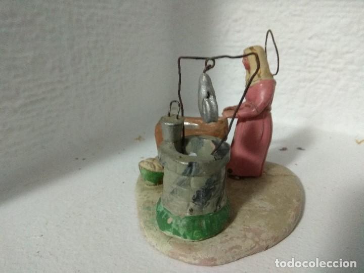 Figuras de Belén: FIGURA BELEN PESEBRE NACIMIENTO BARRO TERRACOTA MUY ANTIGUOS CACHACHERRIA MURCIANA - Foto 7 - 140880906