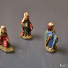 Figuras de Belén: REYES MAGOS MINIATURA 1930/40. Lote 188740787