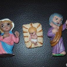 Figuras de Belén: LOTE FIGURAS BELÉN FERRANDIZ AÑOS 70 LA VIRGEN SAN JOSÉ Y EL NIÑO JESÚS. Lote 141421145
