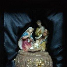 Figuras de Belén: BELÉN REALIZADO A UNA CARITA DE UNA ÚNICA PIEZA Y CON UN CAJÓN QUE SE ABRE PARA GUARDAR AL NIÑO JESÚ. Lote 142897138