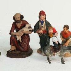 Figuras de Belén: CONJUNTO DE 9 FIGURAS DE BELÉN. TERACOTA PINTADA A MANO. SIGLO XIX-XX. . Lote 143138946