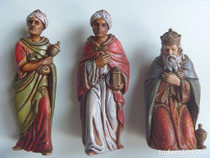 REYES MAGOS FIGURAS BELÉN ESCALA MADE IN SPAIN VINTAGE OCASIÓN (Coleccionismo - Figuras de Belén)