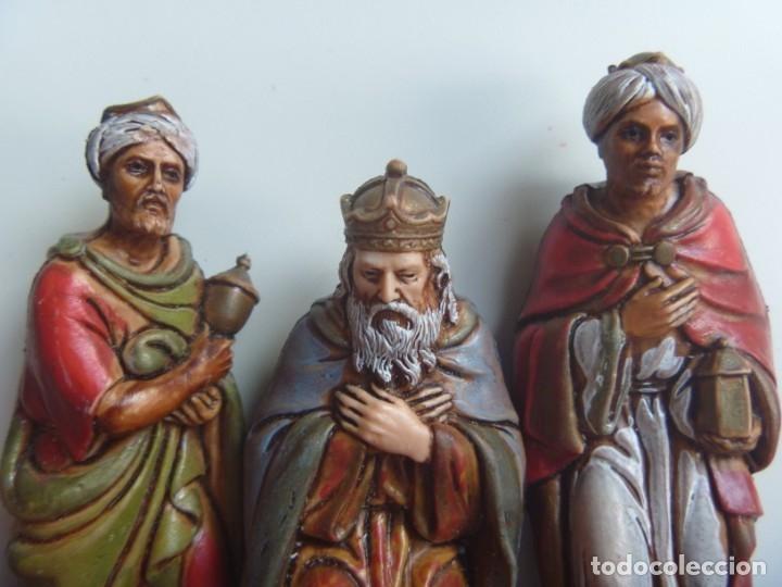 Figuras de Belén: REYES MAGOS FIGURAS BELÉN ESCALA MADE IN SPAIN VINTAGE OCASIÓN - Foto 8 - 143152886