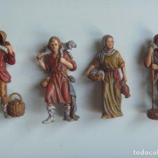 Figuras de Belén: PASTORES MUJERES LOTE FIGURAS ADORACIÓN BELÉN ESCALA MADE IN SPAIN VINTAGE EXCLUSIVAS OCASIÓN. Lote 143153518