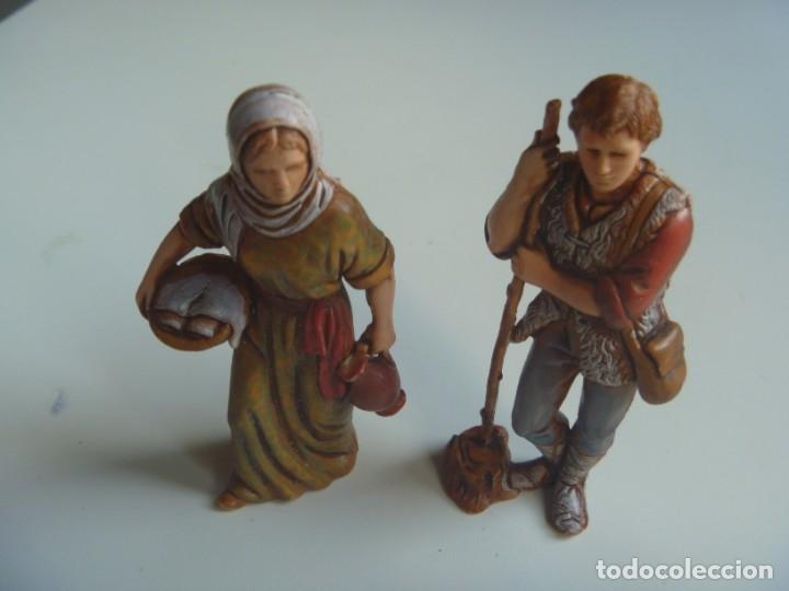 Figuras de Belén: PASTORES MUJERES LOTE FIGURAS ADORACIÓN BELÉN ESCALA MADE IN SPAIN VINTAGE EXCLUSIVAS OCASIÓN - Foto 9 - 209990230