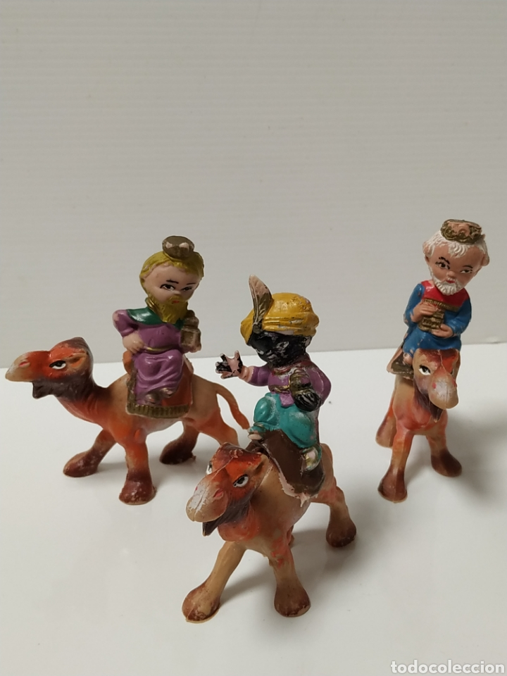 FIGURAS PVC REYES MAGOS CABEZONES AÑOS 70 (Coleccionismo - Figuras de Belén)