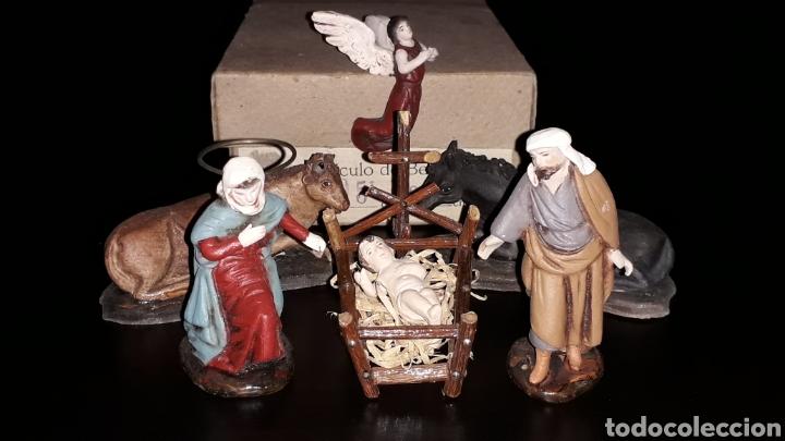 Figuras de Belén: Figuras Belén Belenismo: Misterio Nacimiento en barro o terracota, Ortigas o similar, años 50. Caja. - Foto 2 - 143584806