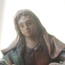 Figuras de Belén: FIGURA DE BELEN NACIMIENTO PASTORA TERRACOTA Y TELA ENCOLADA ALTURA 16 CM. Lote 143607854