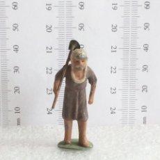 Figuras de Belén: ANTIGUA FIGURA DE BELEN EN PLOMO AÑOS 40-50 CAMPESINO CON AZADA MINIATURA. Lote 143686670