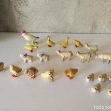 Figuras de Belén: ANTIGUAS MINIATURAS FIGURAS DE ANIMALES DE BARRO PARA BELÉN . Lote 143795090