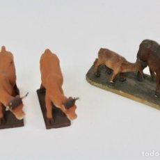 Figuras de Belén: LOTE DE 3 FIGURAS DE ANIMALES EN TERRACOTA.. Lote 144213050