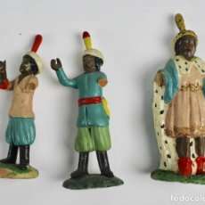 Figuras de Belén: LOTE DE 3 FIGURAS BELEN, PAJES. TERRACOTA. . Lote 144214514