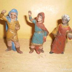 Figuras de Belén: REYES MAGOS PLASTICO. Lote 144261790