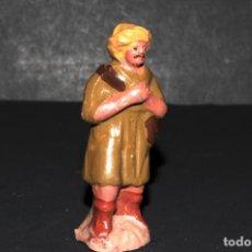 Figuras de Belén: FIGURA DE BELEN O PESSEBRE EN BARRO O TERRACOTA - PERSONAJE. Lote 145407882