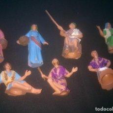 Figuras de Belén: BELEN ANTIGUAS FIGURAS PESEBRE. EN PLÁSTICO.. Lote 145767258