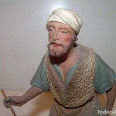 Figuras de Belén: MUY ANTIGUA Y BONITA FIGURA DE TERRACOTA...FIRMADA CASTELLS....PERFECTO ESTADO DE CONSERVACION.. Lote 145983798