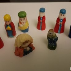 Figuras de Belén: FIGURITAS ROSCÓN REYES MAGOS Y OTROS. Lote 146023237
