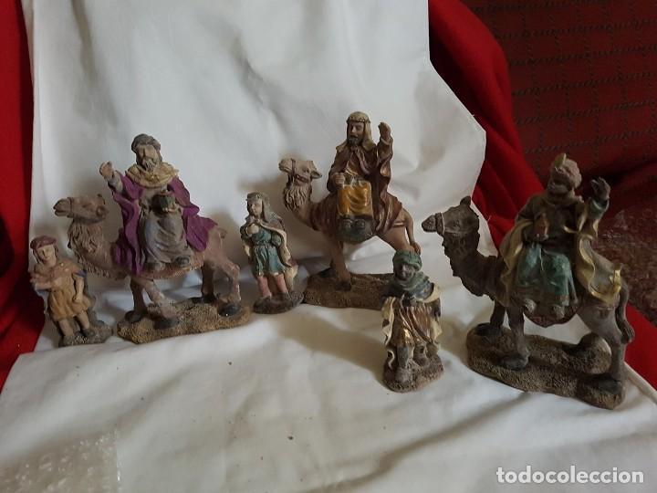 REYES MAGOS CON CAMELLO (Coleccionismo - Figuras de Belén)