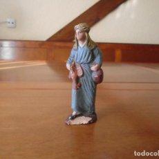 Figuras de Belén: ANTIGUA FIGURA BELÉN EN BARRO ORTIGAS 10 CM.. Lote 147108890