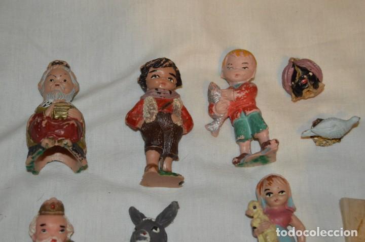 Figuras de Belén: BELEN O NACIMIENTO DE LOS AÑOS 70 - HERMANOS PECH Y OTROS - MADE IN SPAIN - CABEZONES / CABEZUDOS - Foto 2 - 147396686