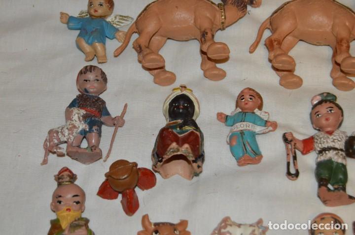 Figuras de Belén: BELEN O NACIMIENTO DE LOS AÑOS 70 - HERMANOS PECH Y OTROS - MADE IN SPAIN - CABEZONES / CABEZUDOS - Foto 13 - 147396686