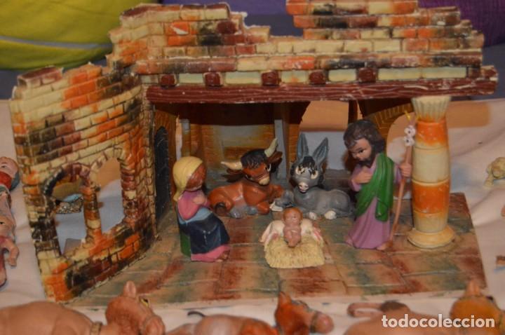 Figuras de Belén: BELEN O NACIMIENTO DE LOS AÑOS 70 - HERMANOS PECH Y OTROS - MADE IN SPAIN - CABEZONES / CABEZUDOS - Foto 20 - 147396686