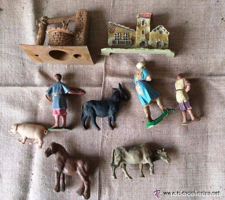 Figuras de Belén: Figuras de Belén antiguas realizadas en plástico, ideal coleccionistas - Foto 2 - 64825251