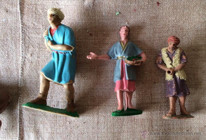 Figuras de Belén: Figuras de Belén antiguas realizadas en plástico, ideal coleccionistas - Foto 3 - 64825251