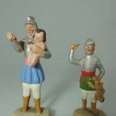 Figuras de Belén: RARAS FIGURAS DE BELEN TERRACOTA AÑOS 50 SOLDADOS ROMANOS LA MATANZA DE LOS INOCENTES-. Lote 148186366