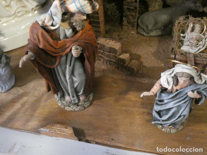 Figuras de Belén: Belen,nacimiento, pesebre J. Fernández Decoarte. caja original. San josé 16 cms, Virgen 10 cms - Foto 5 - 148300822