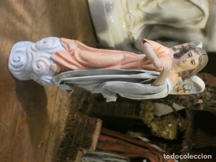 Figuras de Belén: Belen,nacimiento, pesebre J. Fernández Decoarte. caja original. San josé 16 cms, Virgen 10 cms - Foto 6 - 148300822