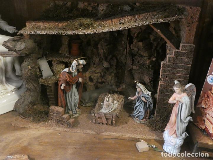 Figuras de Belén: Belen,nacimiento, pesebre J. Fernández Decoarte. caja original. San josé 16 cms, Virgen 10 cms - Foto 7 - 148300822