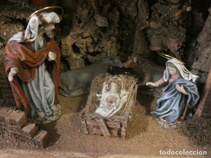 Figuras de Belén: Belen,nacimiento, pesebre J. Fernández Decoarte. caja original. San josé 16 cms, Virgen 10 cms - Foto 8 - 148300822