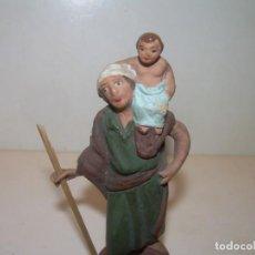 Figuras de Belén: ANTIGUAS Y BONITAS FIGURAS DE TERRACOTA.. Lote 148449034
