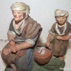 Figuras de Belén: ANTIGUA Y BONITA FIGURA DE TERRACOTA DE BELÉN. Lote 148484982