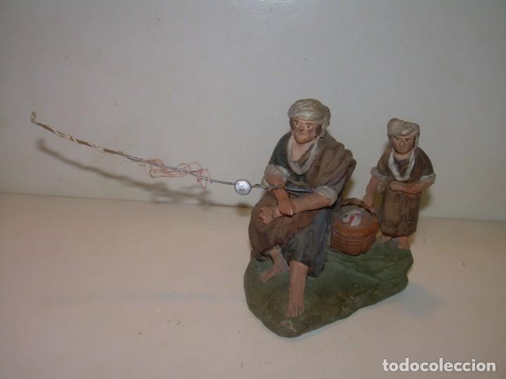 Figuras de Belén: ANTIGUA Y BONITA FIGURA DE TERRACOTA DE BELÉN - Foto 2 - 148484982