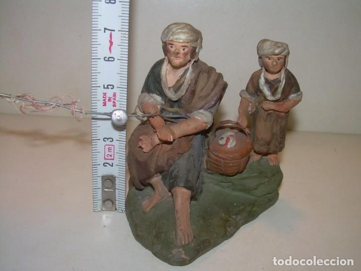 Figuras de Belén: ANTIGUA Y BONITA FIGURA DE TERRACOTA DE BELÉN - Foto 4 - 148484982