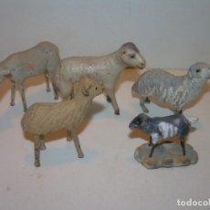 Figuras de Belén: ANTIGUAS FIGURAS DE TERRACOTA.. Lote 148504174