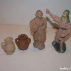 Figuras de Belén: ANTIGUAS FIGURAS DE TERRACOTA PARA BELEN.. Lote 148579826