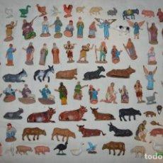 Figuras de Belén: VINTAGE - ENORME LOTE DE FIGURAS DE BELÉN - MUÑECOS Y ANIMALITOS - OLIVER, PUIG, PECH...- ENVÍO 24H. Lote 148956798