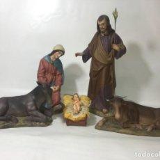 Figuras de Belén: GRUPO FIGURA FIGURAS BELEN NACIMIENTO GRAN TAMAÑO OLOT. RAV800. Lote 149784510