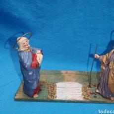 Figuras de Belén: ANTIGUAS FIGURAS, PARA BELÉN, EN BARRO TERRACOTA MURCIANO. Lote 150819365