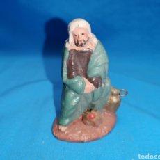 Figuras de Belén: ANTIGUA FIGURA EN TERRACOTA BARRO MURCIANO PARA BELÉN. Lote 150821249