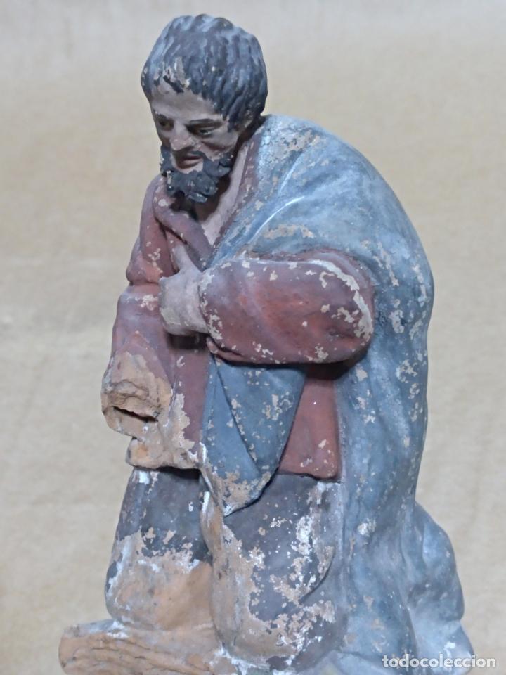 Figuras de Belén: Pastor. Nacimiento/Belén/Pesebre. Barro. - Foto 6 - 151536790